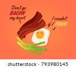 romantic valentine's day card.... | Shutterstock .eps vector #793980145