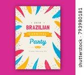 brazilian carnival poster ... | Shutterstock .eps vector #793980181