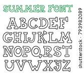 hand drawn alphabet to make... | Shutterstock .eps vector #793982089