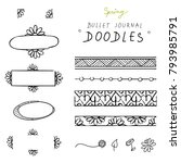 spring hand drawn doodles for... | Shutterstock .eps vector #793985791