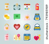 icon set about wedding. with... | Shutterstock .eps vector #793985989