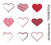 hearts set brush | Shutterstock .eps vector #793987024