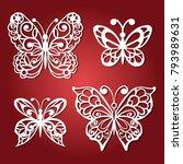 set openwork butterflies