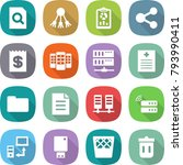 flat vector icon set   search... | Shutterstock .eps vector #793990411
