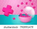 vector 3d realistic colorful... | Shutterstock .eps vector #793991479