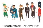 vector cartoon people in united ... | Shutterstock .eps vector #793991719