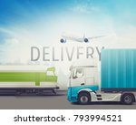 delivery and transportation of... | Shutterstock . vector #793994521