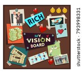 vision board samples vector... | Shutterstock .eps vector #793998331