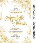 wedding invitation greeting... | Shutterstock .eps vector #793999885