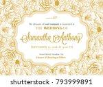 wedding invitation greeting... | Shutterstock .eps vector #793999891