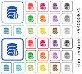 database modules color flat... | Shutterstock .eps vector #794000875