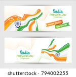 republic day banner background... | Shutterstock .eps vector #794002255