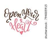 valentine day poster. hand...   Shutterstock .eps vector #794005915