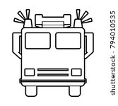 fire engine   vector icon... | Shutterstock .eps vector #794010535