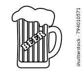 mug of beer   vector icon... | Shutterstock .eps vector #794010571