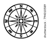 windrose compass   vector icon... | Shutterstock .eps vector #794010589