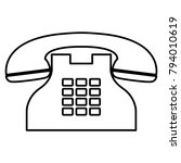 telephone   vector icon without ... | Shutterstock .eps vector #794010619