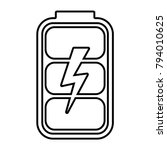 battery charge level indicator  ... | Shutterstock .eps vector #794010625