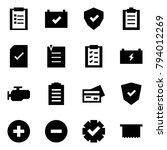 origami style icon set  ... | Shutterstock .eps vector #794012269