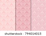 set of floral ornaments. set of ... | Shutterstock .eps vector #794014015