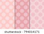 set of floral ornaments. set of ... | Shutterstock .eps vector #794014171