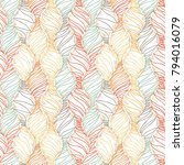 vector doodle seamless pattern... | Shutterstock .eps vector #794016079
