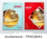 brochure template layout design.... | Shutterstock .eps vector #794018041