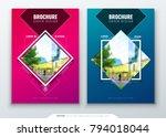 brochure template layout design....   Shutterstock .eps vector #794018044