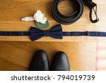 groom s accessories  blue... | Shutterstock . vector #794019739