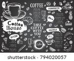 coffee house menu. restaurant... | Shutterstock .eps vector #794020057