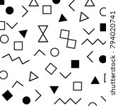vector pattern with black and... | Shutterstock .eps vector #794020741