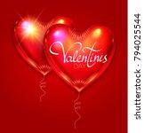 happy valentine's day...   Shutterstock .eps vector #794025544