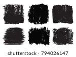 vector grunge shapes banners... | Shutterstock .eps vector #794026147
