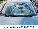 broken car front window. | Shutterstock . vector #794029057
