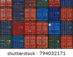 container stag in container yard