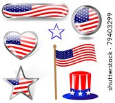 independence day. collection of ... | Shutterstock . vector #79403299