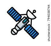 space   satellite  | Shutterstock .eps vector #794038744