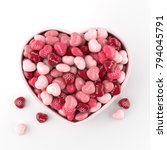 bowl of glossy heart shaped... | Shutterstock . vector #794045791