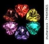 heart shaped gems in jewel... | Shutterstock . vector #794045821