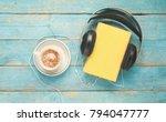 audio book concept  book ... | Shutterstock . vector #794047777
