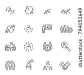 human resources  management... | Shutterstock .eps vector #794052649
