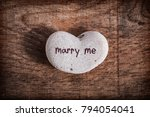 heart shaped stone with the... | Shutterstock . vector #794054041