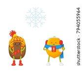 vector flat winter fruit symbol ... | Shutterstock .eps vector #794055964