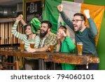 group of four fun friends... | Shutterstock . vector #794060101