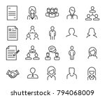 simple collection of human... | Shutterstock .eps vector #794068009