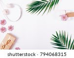 headphones  boxes with gifts ... | Shutterstock . vector #794068315