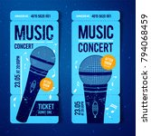 vector illustration blue music... | Shutterstock .eps vector #794068459