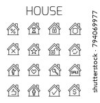 house related vector icon set.... | Shutterstock .eps vector #794069977