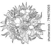 monochrome vector illustration... | Shutterstock .eps vector #794075005