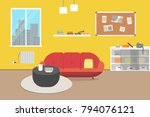 living room with furniture....   Shutterstock .eps vector #794076121